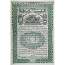 Havana Central Railroad Co., 1905 Specimen Bond Rarity