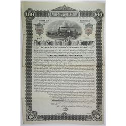Florida Southern Railroad Co., 1892 Specimen Bond