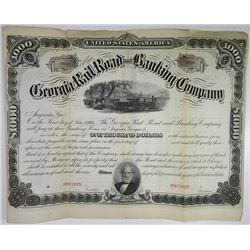 Georgia Rail Road and Banking Co., 1922 Specimen Bond.