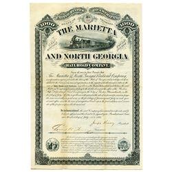Mariette and North Georgia Rail Road Co., 1881 I/U Bond