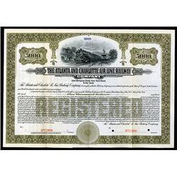 Atlanta and Charlotte Air Line Railway, 1914 Specimen Bond