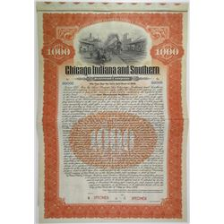 Chicago, Indiana and Southern Railroad Co., 1906 Specimen Bond