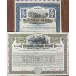Chicago, Indianapolis and Louisville Railway Co. 1897 & 1916 Specimen Bond Pair