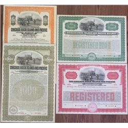 Chicago, Rock Island and Pacific Railway Co. 1904 & 1927 Bond Quartet