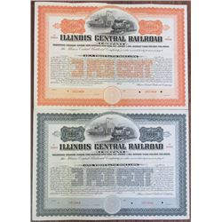 Illinois Central Railroad Co. 1900 Specimen Bond Pair Rarity