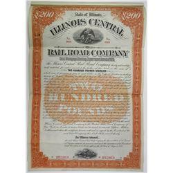 Illinois Central Railroad Co., 1895 Specimen Bond