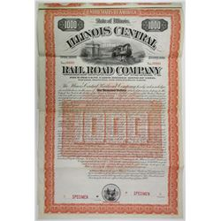 Illinois Central Railroad Co., Cairo Bridge Bond, 1892 Specimen Bond