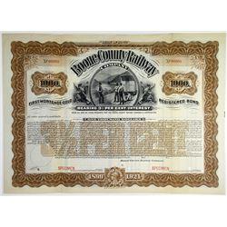 Boone County Railway Co. 1899 Specimen Bond