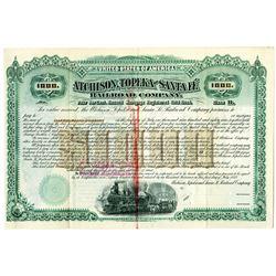 Atchison, Topeka and Santa Fe Railroad Co. 1892 Specimen Bond
