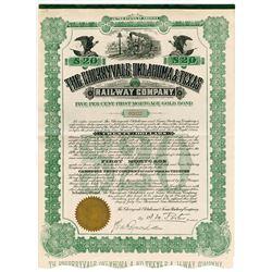 Cherryvale Oklahoma & Texas Railway Co., 1908 I/U Bond