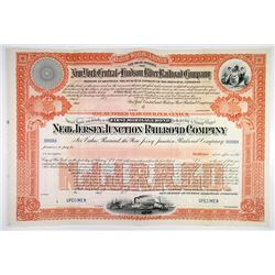 New Jersey Junction Railroad Co., 1886 (Reissued in 1900) Specimen Bond.