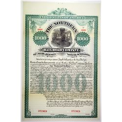 Northern Railroad Co. of New Jersey, 1887 Specimen Bond