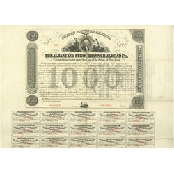 Albany and Susquehanna Railroad Co., 1863 Specimen Bond Rarity Error.