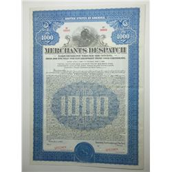 Merchants Dispatch Equipment 1930 Specimen Trust Bond.