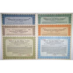 Seaboard Air Line Railway Co., Group of Specimen Bonds ca.1915-1930