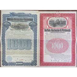 Buffalo, Rochester and Pittsburgh Railway Co. 1907 & 1917 Specimen Bond Pair