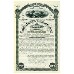 Carolina Central Railroad Co., 1881 I/U Bond.