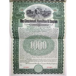 Cincinnati, Hamilton & Dayton Railway Co. 1904 Specimen Bond