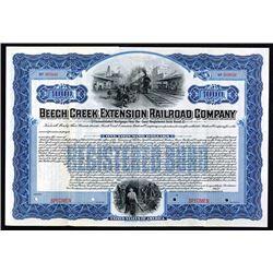 Beech Creek Extension Railroad Co. 1905 Specimen Bond..