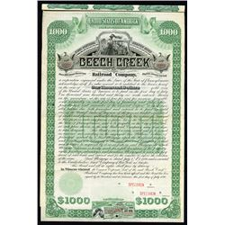 Beech Creek Railroad Co., 1886 Specimen Bond