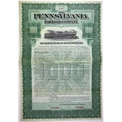 Pennsylvania Railroad Co., 1902 Specimen Bond.