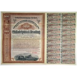 Philadelphia & Reading Railroad Co., 1895 Specimen Bond