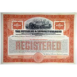 Pittsburgh & Shawmut Railroad Co. Specimen Bond Rarity