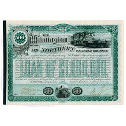 Wilmington and Northern Railroad Co., 1887 I/C Bond Signed by Henry A. du Pont