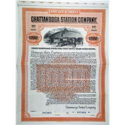 Chattanooga Station Co., 1907 Specimen Bond