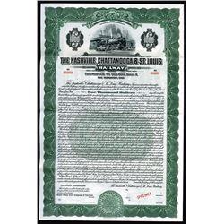 Nashville, Chattanooga & St. Louis Railway Co. 1928 Specimen Bond.