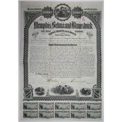 Memphis, Selma and Brunswick Railroad Co. 1882 Bond.