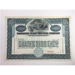 Northern Texas Traction Co., ca.1900-1920 Specimen Stock Certificate