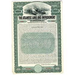 Atlantic Land and Improvement Co., 1909 Specimen Bond.