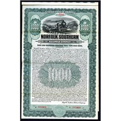 Norfolk Southern Railroad Co. 1911 Specimen Bond.