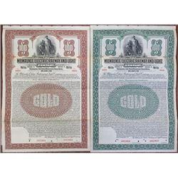 Milwaukee Electric Railway and Light Co. 1921 Specimen Bond Pair