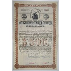 Kansas Security Co., ca.1880-1900 Specimen Bond