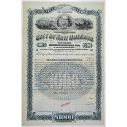 City of New Orleans 1892 Specimen Bond
