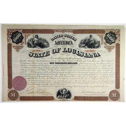 State of Louisiana, 1871 I/U Bond