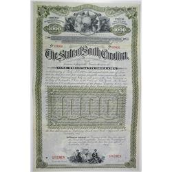 State of South Carolina 1887 Specimen Bond