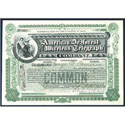 American DeForest Wireless Telegraph Co., 1904 Issued Stock