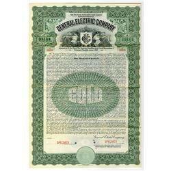 General Electric Co., 1907 Specimen Bond Rarity