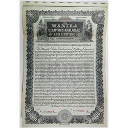 Manila Electric Railroad and Lighting Corp., 1903 Specimen Bond Rarity