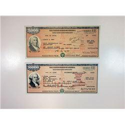 U.S. Savings Bonds, Series EE Patriot Bonds, 1992-2008 Bond Pair.