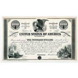 Washington, D.C., U.S.A. $1000, 5% Loan Under Act of March 3rd, 1864, 10-40 Registered Bond, Bond De