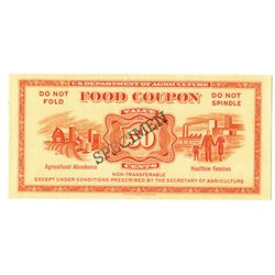 U.S. Department of Agriculture. ND (ca. 1950s). Specimen Food Coupon.