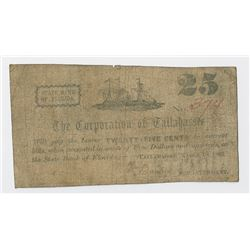 Corporation of Tallahassee, 1862 Scrip Note.