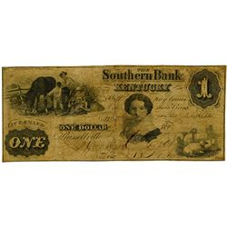 Southern Bank of Kentucky, 1862 Issued Obsolete Banknote.