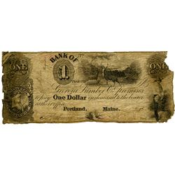 Bank of the Georgia Lumber Co., 1840s? Issued Obsolete Banknote.