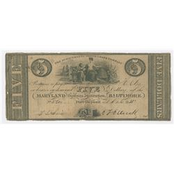 Susquehanna Bridge & Bank Co., 1831 Issued Obsolete Banknote.