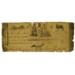 State Bank at (Trenton) 1813 Issued Obsolete Banknote.